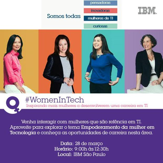 Convite Women In tech 2016